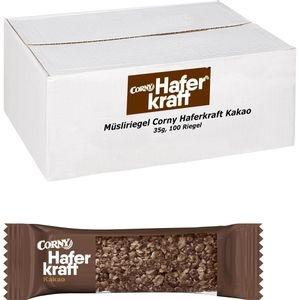 Corny Müsliriegel Haferkraft Kakao, je 35g, 100 Riegel
