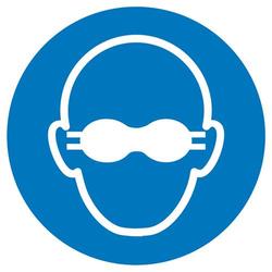 Gebotsschild Weitgehend lichtundurchlässigen Augenschutz benutzen Folie selbstklebend (Ø) 100mm IS