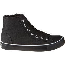 Schuh gefüttert, schwarz, Gr. 34 - 34 - schwarz