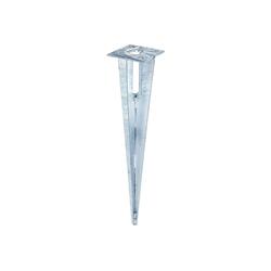 GAH Alberts Einschlagbodenhülse GAH Zaunpfosten Träger 34mm Einschlaghülse Bodenhülse Zaunpfahl Pfosten