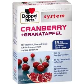 Doppelherz System Cranberry + Granatapfel Kapseln 30 St.