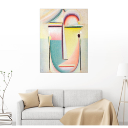Posterlounge Wandbild, Abstrakter Kopf, durchdringendes Licht 50 cm x 70 cm