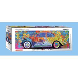 empireposter Puzzle Volkswagen Käfer - Farbspiel - 1000 Teile Panorama Puzzle im Format 96x32 cm., 1000 Puzzleteile