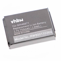 vhbw Li-Ion Akku 750mAh (3.7V) für Headset, Kopfhörer Parrot ZIK 2.0, 3 wie 1ICP7/28/35, MH46671, PF56100.