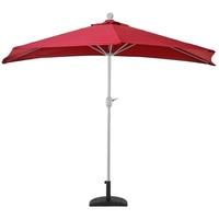 MCW Balkonschirm Lorca-S-300, LxB: 285x145 cm, Optional mit Schirmständer, witterungsfest, Platzsparend zusammenfaltbar rot