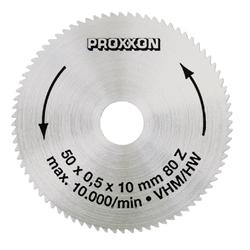 Proxxon Kreissägeblatt, Hartmetall, 50 mm, Vollmaterial, 80 Zähne
