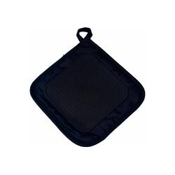 One Home Topflappen Topflappen Basic, (1-tlg), mit Silikon schwarz