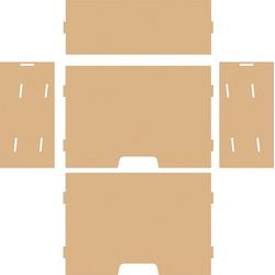 VBS Organizer Schreibtisch-Organizer Papierablage, 5 Teile
