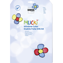 Kreul Mucki Window Color Stabile Folie 3 Blatt DIN A4