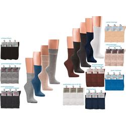 Socks 4 Fun Diabetikersocken Socks4Fun Wellness Diabetikersocken ohne Gummidruck (3 Paar) 39-42