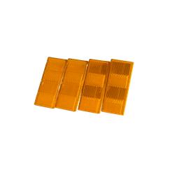 Rückstrahler-Set in orange, 4-teilig für Pkw-Anhänger