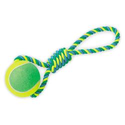 Nobby Spielseil mit Tennisball XXL, Maße: 50 cm