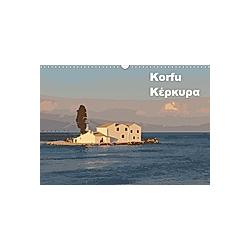 Korfu - KerkiraAT-Version (Wandkalender 2021 DIN A3 quer) - Kalender