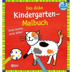 Das dicke Kindergarten-Malbuch: Erste