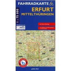 Fahrradkarte Erfurt Mittelthüringen