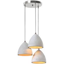 SalesFever Hängeleuchte Thea, 3x Lampenschirme aus Beton