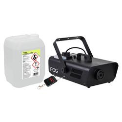 Involight FOG 1500 Nebelmaschinen Set inkl. Smoke Fluid, 5L