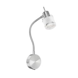 Leselampe MIRAS mit Schwanenhals und Schalter, inkl. LED GU10 Lampe (weiß, 4000K, 2W =24W, 200lm, 110°)
