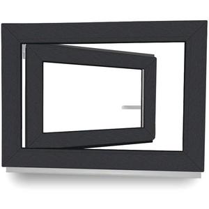 BxH:115x75 cm DIN Links Dreh-Kipp 3 fach Verglasung Fenster Kellerfenster Kunststofffenster wei/ß ALLE GR/Ö/ßEN Premium