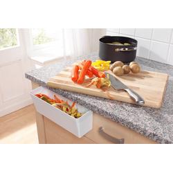 Ruco Biomülleimer, Kunststoff, 2erSet weiß Mülleimer Küchenhelfer Haushaltswaren Biomülleimer