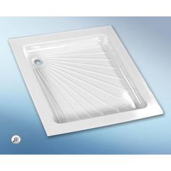Kunststoff-Duschwanne weiß 66,5 x 66,5 cm