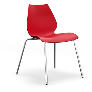 Kartell Stuhl Maui rot, Designer Vico Magistretti, 77x55x52 cm