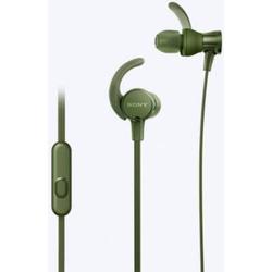 Sony MDR-XB510AS Sport In Ear Kopfhörer In Ear Wasserbeständig, Schweißresistent Grün