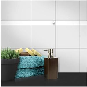 Wandkings Fliesenaufkleber - Wähle eine Farbe & Größe - Weiß Seidenmatt - 3 x 15 cm - 20 Stück für Fliesen in Küche, Bad & mehr