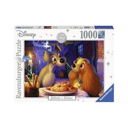 Ravensburger Puzzle Puzzle 1000 Teile, 70x50 cm, Susi und Strolch, Puzzleteile