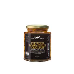 Gegrillte rote und gelbe Paprika in Olivenöl, Glas, 290 g - Agraria Riva del ...