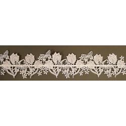 Stickereien Plauen Fensterbild Tulpen 110 cm x 14 cm