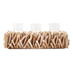 Levandeo® Kerzenständer, Windlicht L50cm Tischdeko Kerzenständer Kerzenhalter Treibholz Wohndeko