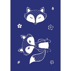 Rayher Siebdruckschablone Fuchs blau