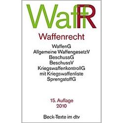 Waffenrecht (WaffR) - Buch