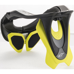 Alpinestars BNS Tech-2 Nekbeschermer, zwart-geel, XS M