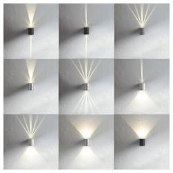 Licht-Trend Wandleuchte Baleno LED mit Lichtfilter schwarz