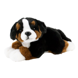 Teddys Rothenburg Kuscheltier Hund Berner Sennenhund liegend 25 cm (mit Schwanz) (Stoffhund Plüschhund Berna Sennenhund, Plüschtier, Stofftier, Berner Sennenhunde, Plüschhund)