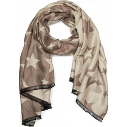 styleBREAKER Schal Schal mit Sternen & Fransen Schal mit Sternen & Fransen braun
