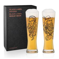 Ritzenhoff Bierglas Black Label Weizen 2er Set Vladimir Bott, Kristallglas