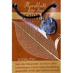 Sodalith Herzblatt  Glücksstein