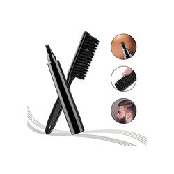 Gotui Bartbürste Bartstift, Bartfüllstiftbürste,Schnurrbartstift,wasserdicht,schwarz