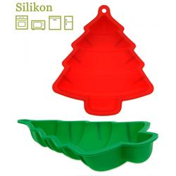 Silikon Backform Tannenbaum - Weihnachtsbackform 23,5 cm