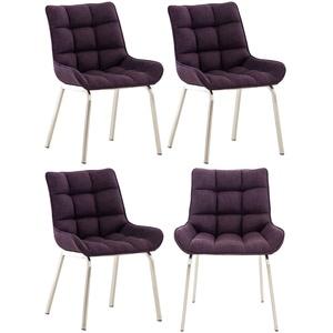 4er Set Stuhl Saranda Stoff Esszimmerstühle Polsterstühle Stuhl Armlehnenstuhl