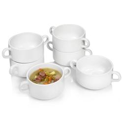 SÄNGER Kombiservice Bianco, (6 tlg., Suppenschüssel Set aus Porzellan 6 teilig) weiß Geschirr-Sets Geschirr, Tischaccessoires Haushaltswaren
