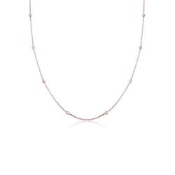 Elli Kette mit Anhänger Solitär Basic Swarovski® Kristalle 925 Silber, Kristall Kette rosa