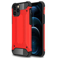 Robuste Hülle für iPhone 12 Pro Max - Rot