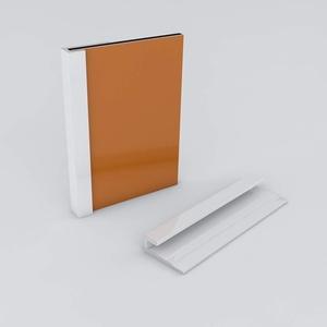 Duschrückwand-Profilsystem Abschlussprofil Aluprofil Aluminiumprofil für 3mm Duschrückwand Küchenspiegel 300cm weiss
