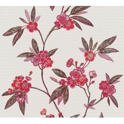 Vliestapete Asian Fusion, aufgeschäumt, floral, asiatisch rot