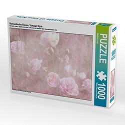 Romantische Rosen, Vintage Style Lege-Größe 64 x 48 cm Foto-Puzzle Bild von Martina Cross Puzzle