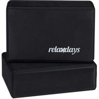 Relaxdays – Yogablock im 2er Set, Yoga-Klötze für Yoga-Übungen, Hartschaum, rutschfest, Yoga-Würfel